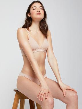 Soutien-gorge triangle sans armatures blush.