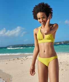 Bas de bikini simple anis.