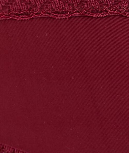 Culotte microfibre, bords dentelle