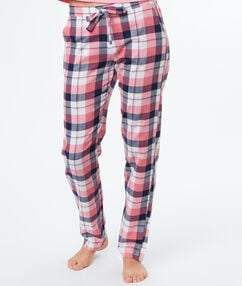 Pantalon à carreaux rose.