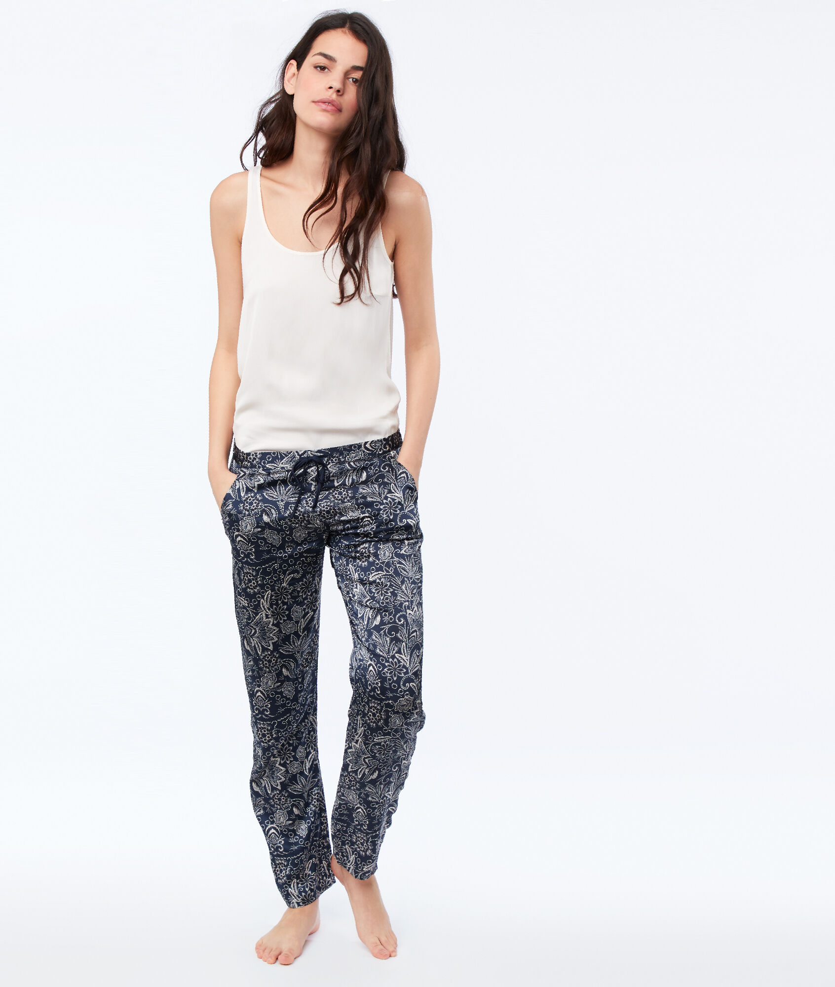 thésaurisation comme une denrée rare profiter du meilleur prix remise pour vente Pantalon Bleu Selly De En Pyjama Satin Etam hQrtsdC