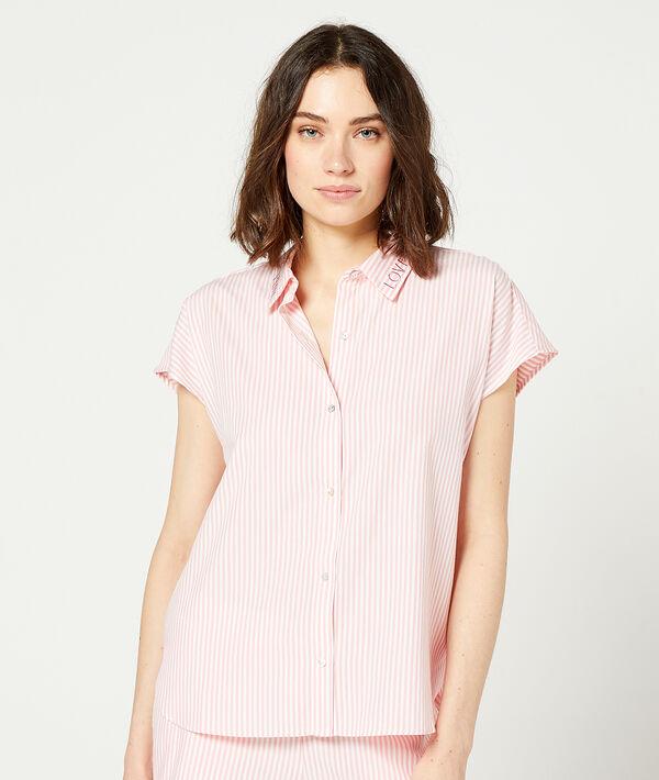 Chemise de pyjama à rayures;${refinementColor}