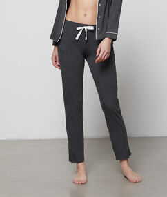 Pantalon doux et confortable gris.