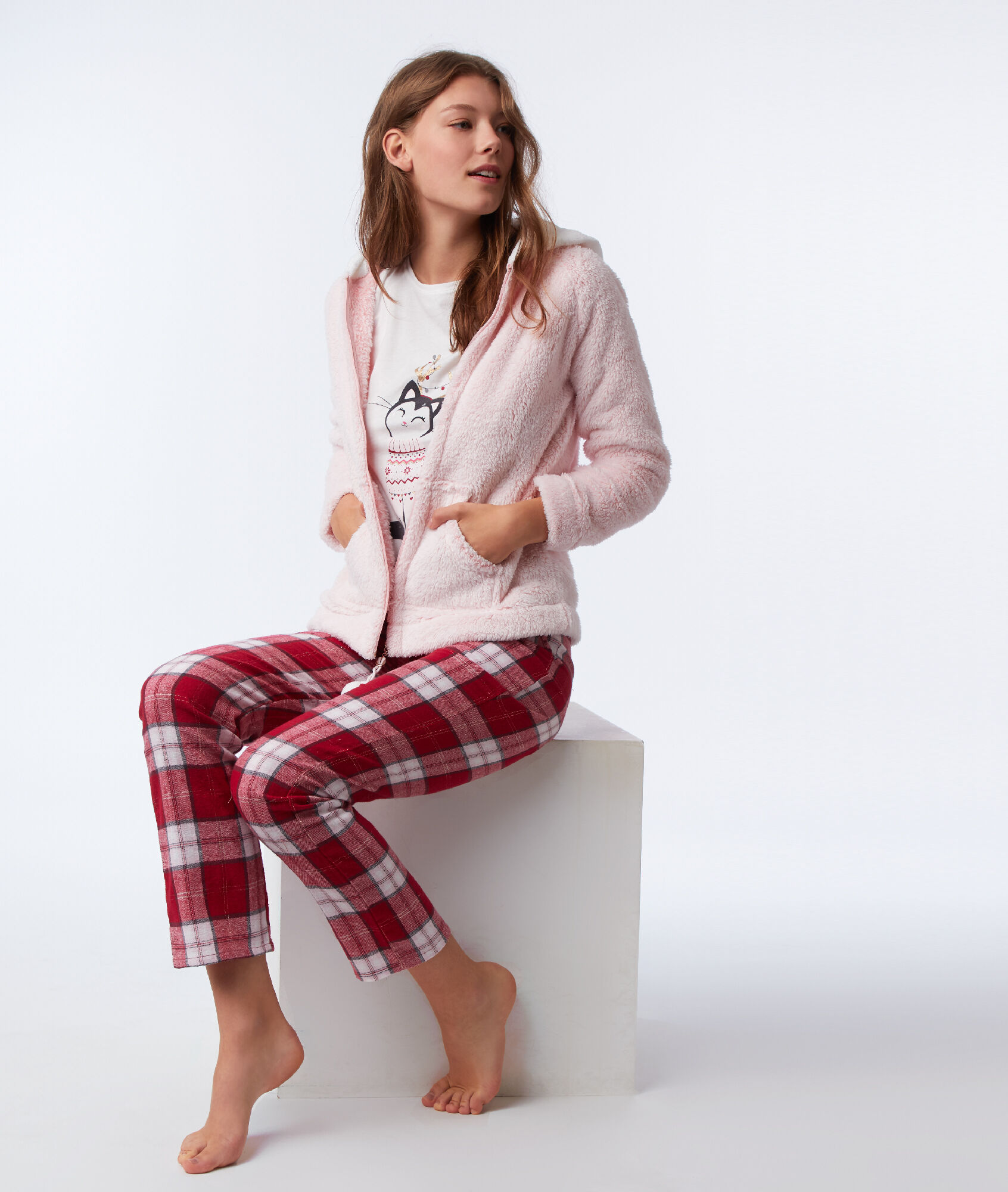 foto de Pyjama trois pièces chat ORMELLE ROSE Etam