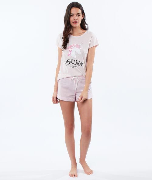 T-shirt imprimé licorne