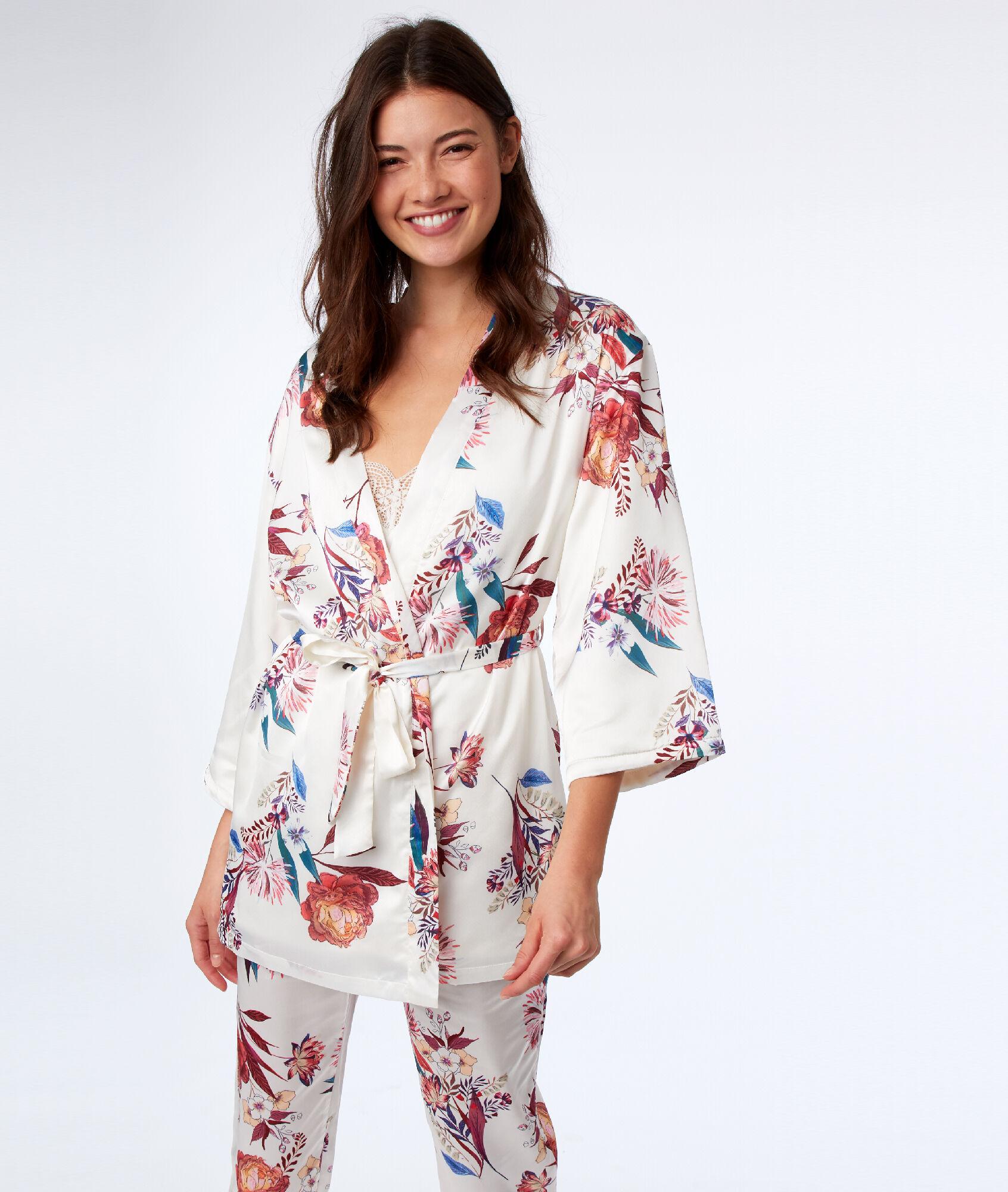 Kimono doublé polaire - IJAYA - ECRU - Etam 3aecdbc40a4