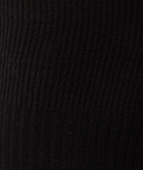Jambières côtelées noir.