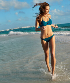 Bas de bikini simple bleu/vert.