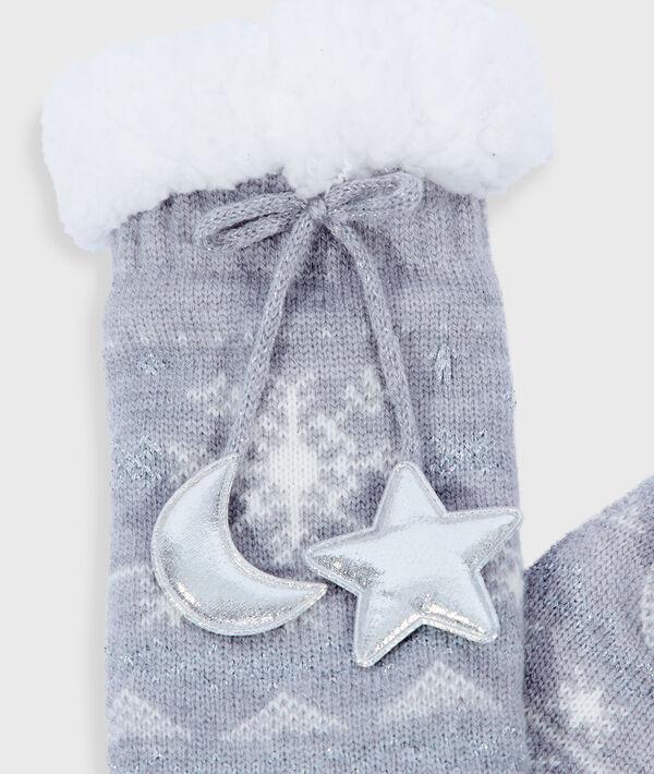 Chaussettes homewear nouées à motifs;${refinementColor}