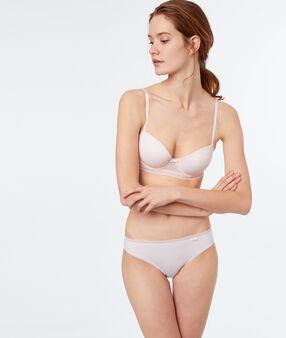 Culotte bi-matière blush.