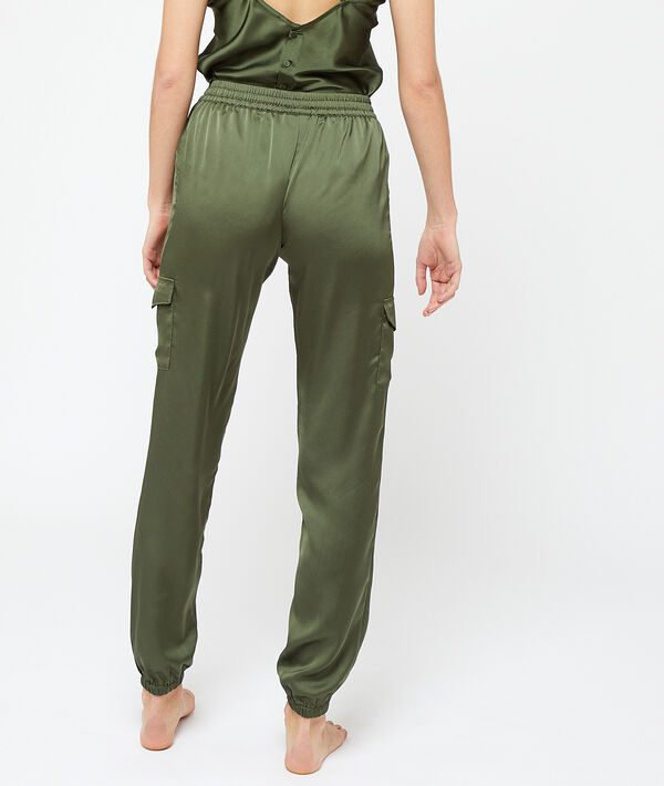 Pantalon satiné coupe battle;${refinementColor}