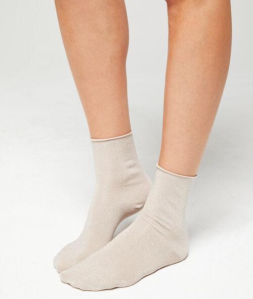 Chaussettes courtes à fibres métallisées