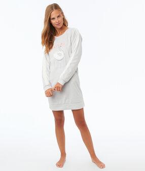 Robe sweat homewear ecru.