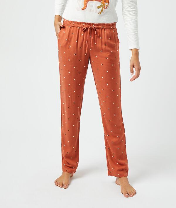 Pantalon imprimé;${refinementColor}