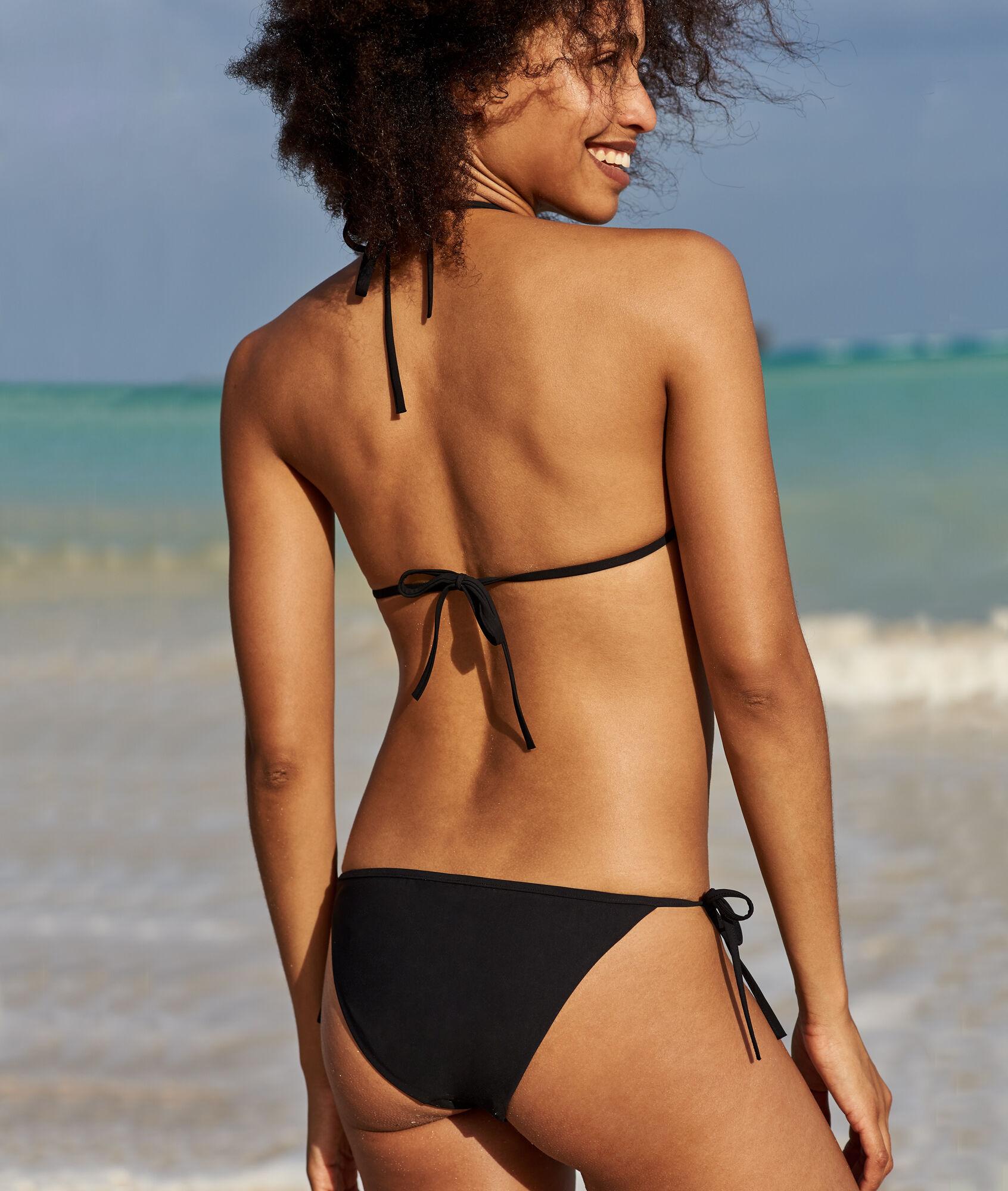 aa5c4b018696 Bas de bikini à nouer - MALAGA - NOIR - Etam