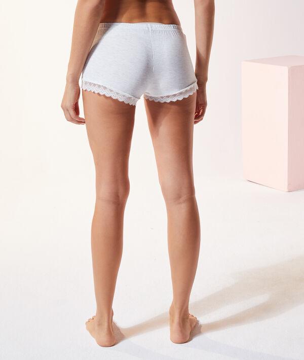 Short de pyjama bords dentelle;${refinementColor}