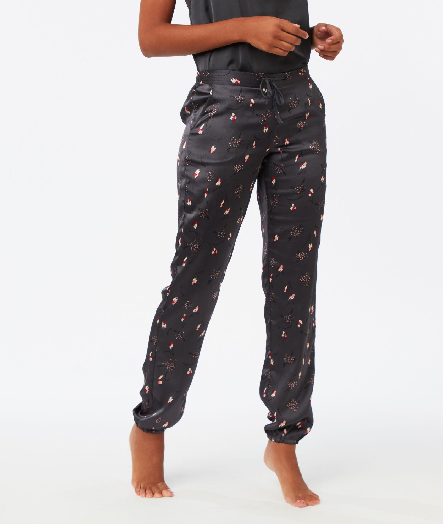 Pantalon satin imprimé - INDIE - GRIS - Etam 53ac8d5cca75