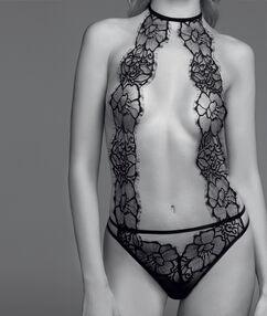 Body dentelle guipure noir.