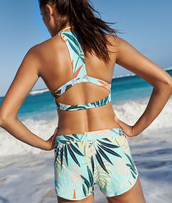 Shorty de bain tropical multicolore.