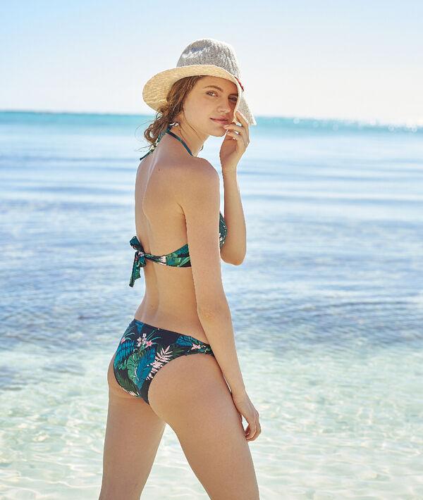 Bas de bikini simple, imprimé fleurs;${refinementColor}