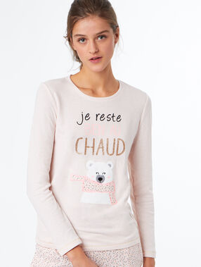 T-shirt imprimé rose.