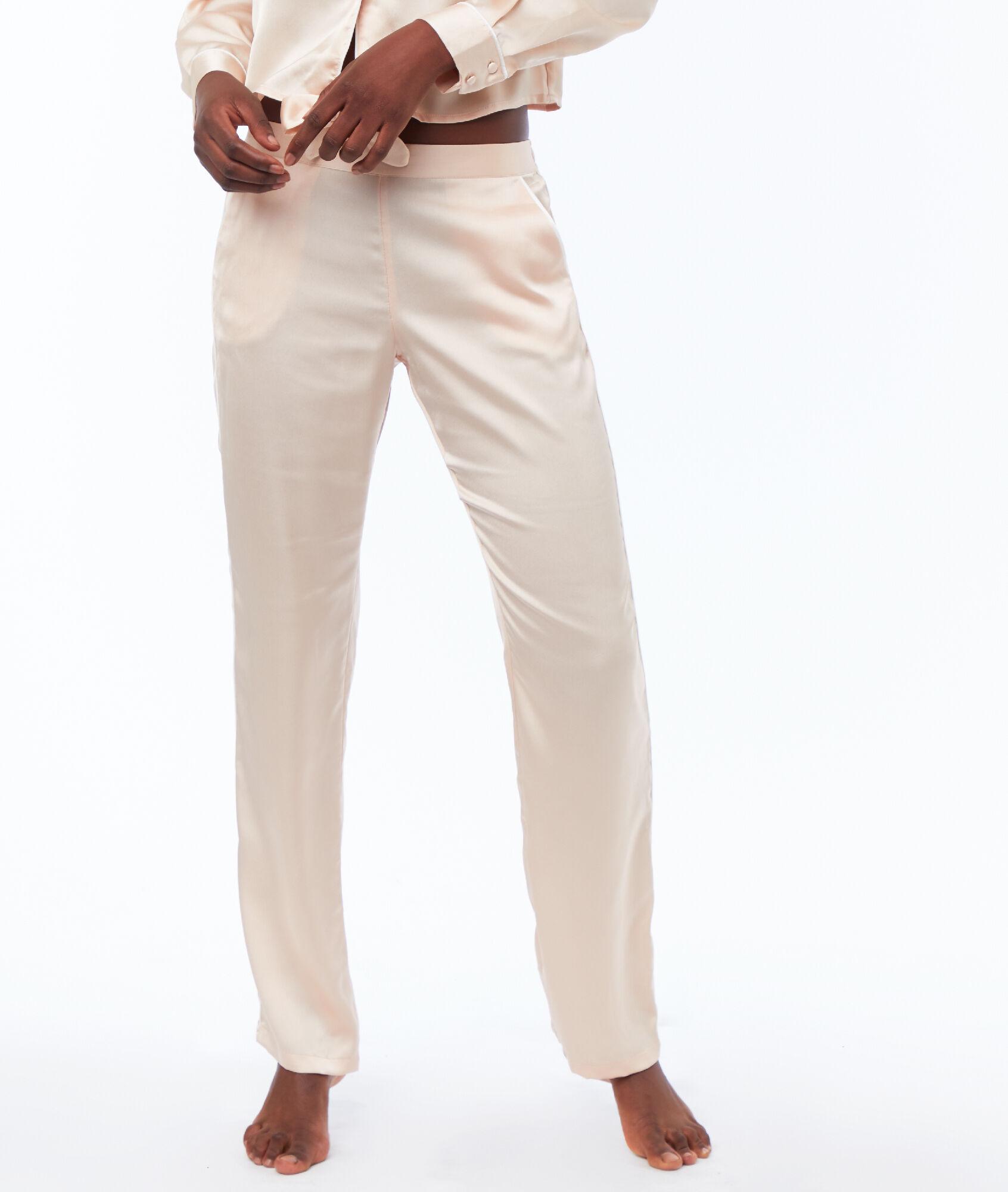 a2c7024766208 Pantalon satin - MAUD - ROSE POUDRE - Etam